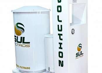Filtro prensa transparente para postos de combustíveis