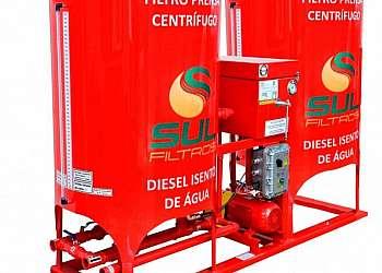 Filtro prensa para posto de combustível