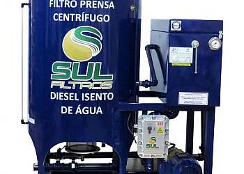 Filtro prensa tratamento de óleo diesel