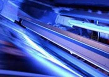 Filtro prensa transparente com luz ultravioleta